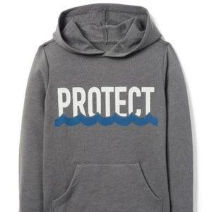 Gymboree Boys PROTECT Beach Ocean Hoodie Gray XL